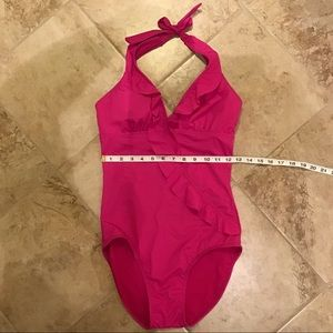 One Piece Swimsuit by Assets (Spanx) in Fushia